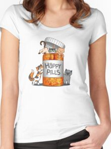 Happy Pills Women's Fitted Scoop T-Shirt