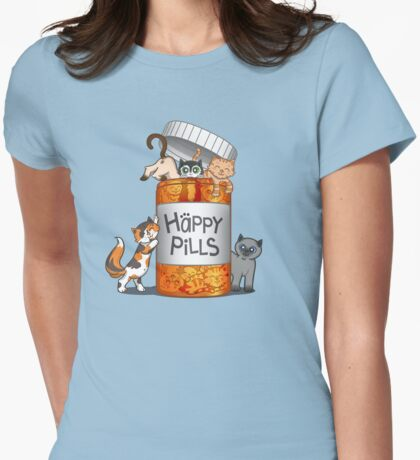 Happy Pills Womens Fitted T-Shirt