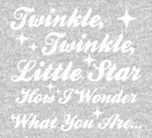 Twinkle, Twinkle, Little Star (white) One Piece - Long Sleeve