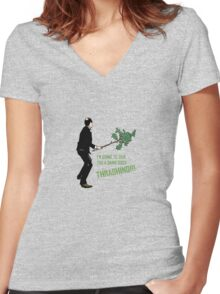 Good Thrashing! – Basil Fawlty Women's Fitted V-Neck T-Shirt