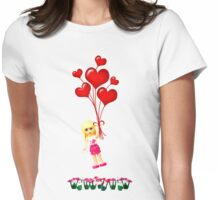 Up, Up and Away! Womens Fitted T-Shirt
