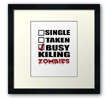 Halloween costumes! killing zombies Framed Print