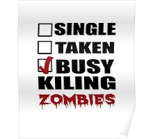 Halloween costumes! killing zombies Poster