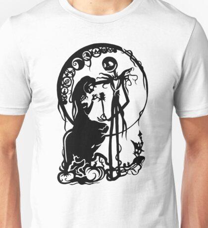 Nightmare Before Christmas - Black On White Unisex T-Shirt