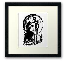 Nightmare Before Christmas - Black On White Framed Print