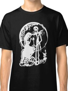 Nightmare Before Christmas - White On Black Classic T-Shirt