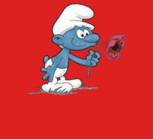 Smurf Holding Flower Kids Clothes