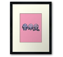 hear no, see no, speak no Framed Print