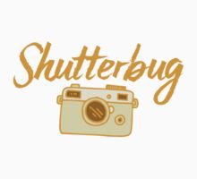 shutterbug (with cool photographic camera) Kids Tee