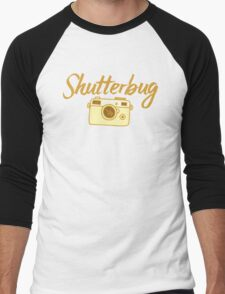 shutterbug (with cool photographic camera) Men's Baseball ¾ T-Shirt