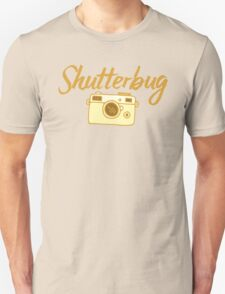 shutterbug (with cool photographic camera) Unisex T-Shirt