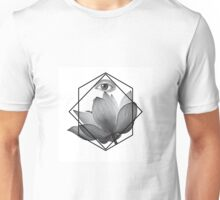 Lotus in black and white Unisex T-Shirt