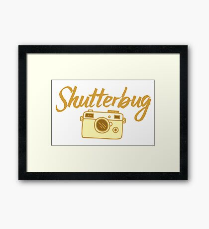 shutterbug (with cool photographic camera) Framed Print