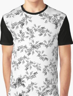 Black Grass Leafy Graphic T-Shirt