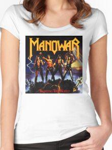 MANOWAR ALBUMS 3 Women's Fitted Scoop T-Shirt