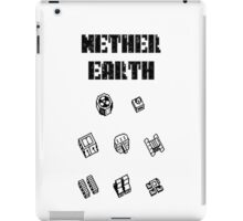 Nether Earth robot parts with title iPad Case/Skin