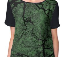 Spooky Trees (Green) Chiffon Top