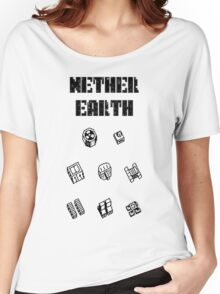 Nether Earth robot parts with title Women's Relaxed Fit T-Shirt