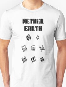 Nether Earth robot parts with title T-Shirt