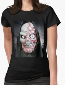 Horror Night Scare Scene  Womens Fitted T-Shirt