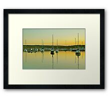 Sailboat Harbor Framed Print
