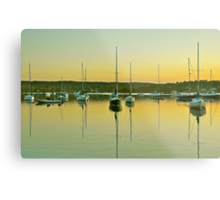 Sailboat Harbor Metal Print