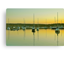 Sailboat Harbor Canvas Print