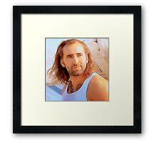 Nick Cage Framed Print