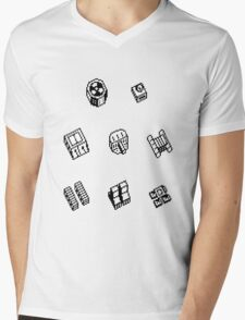 Nether Earth robot parts without title Mens V-Neck T-Shirt
