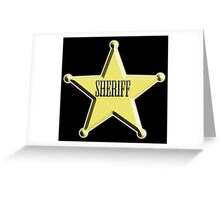 SHERIFF, Badge, The Law, Lawman, Cowboy, Wild West, Greeting Card