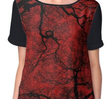 Spooky Trees (Red) Chiffon Top