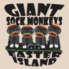 Giant Sock Monkeys of Easter Island by dennis william gaylor