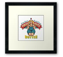 poovey farms butter Framed Print