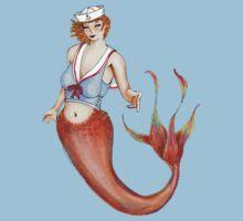 Sailor Mermaid Pin Up Kids Tee