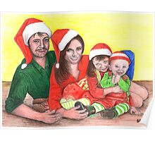 Caskett family at Christmas Poster