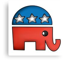 Cute Republican Elephant  Canvas Print