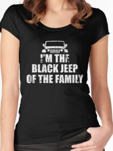 I'm The Black Jeep Of The Family, Gift for Jeep Lover, Funny Women's Fitted Scoop T-Shirt