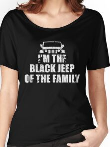 I'm The Black Jeep Of The Family, Gift for Jeep Lover, Funny Women's Relaxed Fit T-Shirt