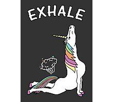 Yoga Unicorn - 'EXHALE' Cobra Pose Photographic Print