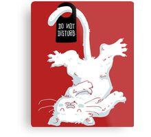 Do not disturb - Red Metal Print