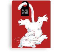 Do not disturb - Red Canvas Print