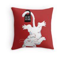 Do not disturb - Red Throw Pillow