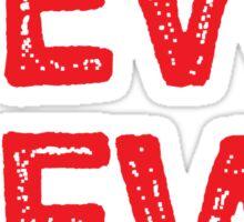 PEW PEW! in red shots Sticker
