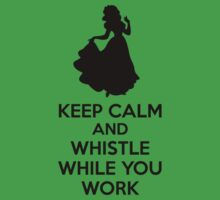 Keep Calm And Whistle While You Work One Piece - Short Sleeve