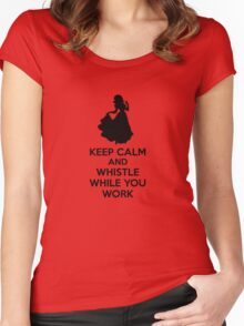 Keep Calm And Whistle While You Work Women's Fitted Scoop T-Shirt
