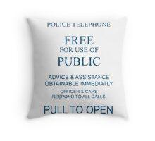 The Doctor's TARDIS Throw Pillow