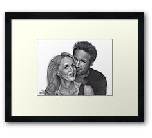 Gillian Anderson and David Duchovny Framed Print