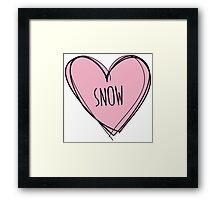 Snow - Snowboard Framed Print