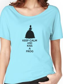 Keep Calm And Kiss A Frog Women's Relaxed Fit T-Shirt