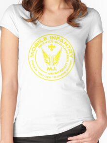 Starship Troopers - Mobile Infantry Patch Women's Fitted Scoop T-Shirt